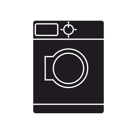 wet shirt: Washing machine icon isolated on white background . Vector design.