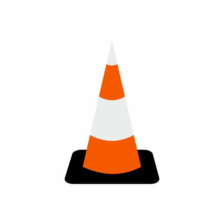 Traffic cone symbol vector design isolated on white background Illustration