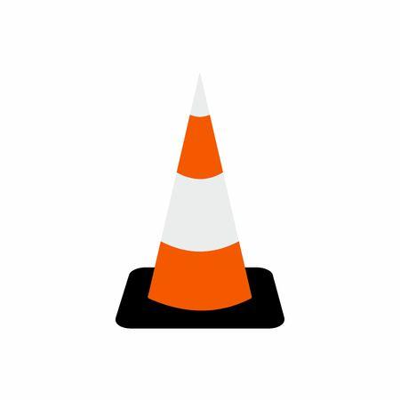 symbol traffic: Traffic cone symbol vector design isolated on white background Illustration