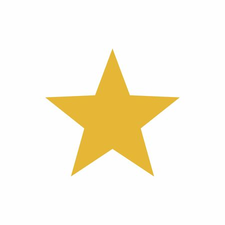 yellow star: Yellow star vector design isolated on white background Illustration