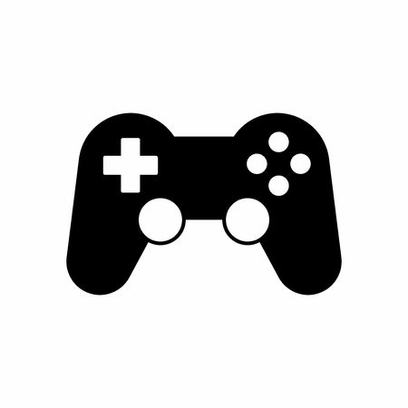 joypad: Gamepad or game controller icon vector design isolated on white background