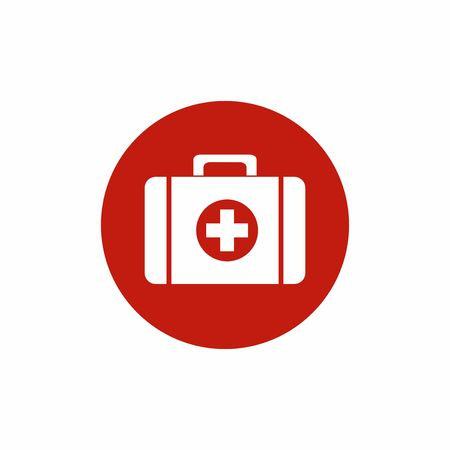 valigia: First Aid Kit icon vector design isolated on White background.