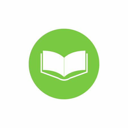 Book icon vector design isolated on white background Illustration
