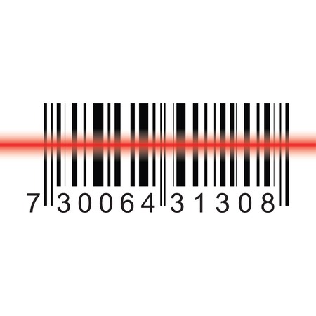 Barcode icon vector design isolated on white background