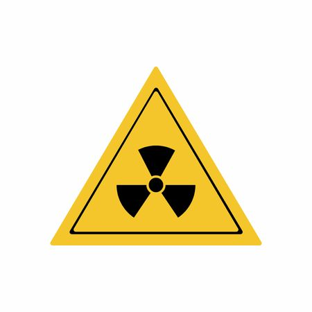 irradiation: The radiation sign vector design isolated on white background
