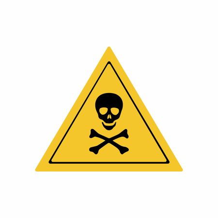 toxic accident: Warning toxic hazard sign vector design isolated on white background