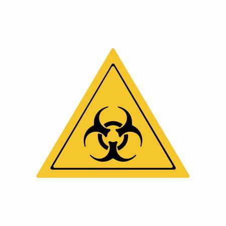 Biological hazard sign vector design isolated on white background Illustration