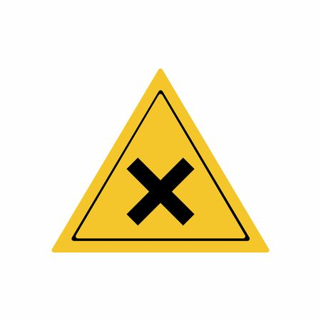toxic accident: Irritant substance sign vector design isolated on white background