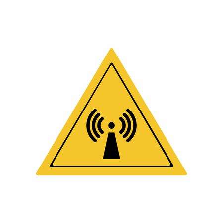 Radio frequency radiation sign vector design isolated on white background Illustration