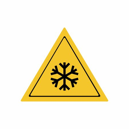 Low temperature or freezing condition sign vector design isolated on white background