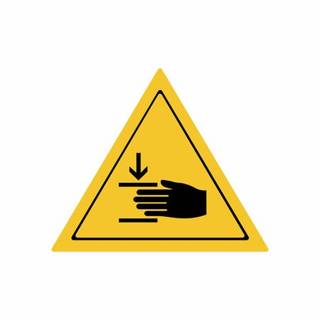 Crushing of hands sign vector design isolated on white background Illusztráció