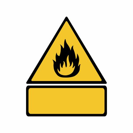 Flammable material sign vector design . ISO 7010 W021 Warning symbol. Illusztráció
