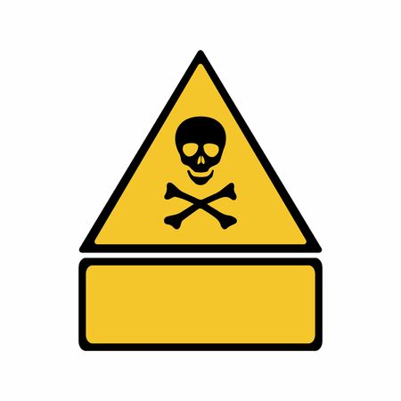 Warning toxic hazard sign vector design isolated on white background