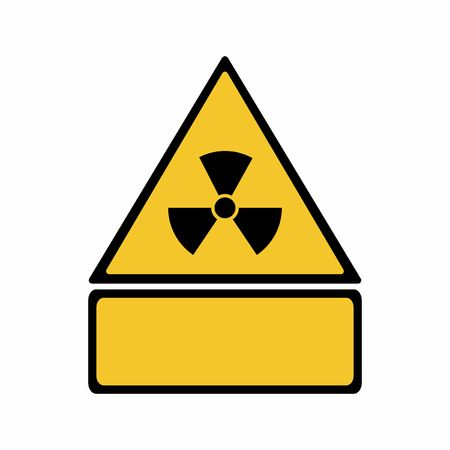 The radiation sign vector design isolated on white background