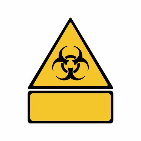 Biological hazard sign vector design isolated on white background Illusztráció