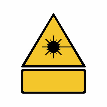The laser radiation sign vector design isolated on white background Illustration