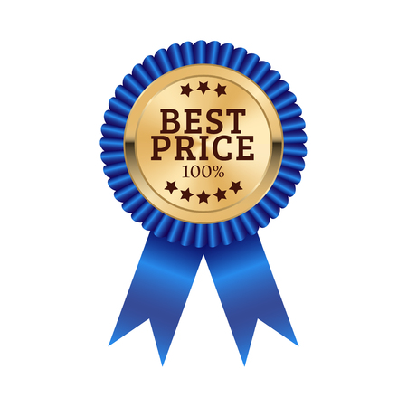 Best price medal illustration design isolated on white background