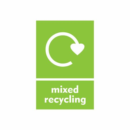 Mixed recycling sign vector design isolated on white background