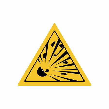 Risk of explosion sign vector design isolated on white background Illustration