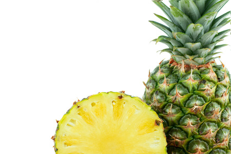 Ripe tasty pineapple isolated on white background Stock fotó