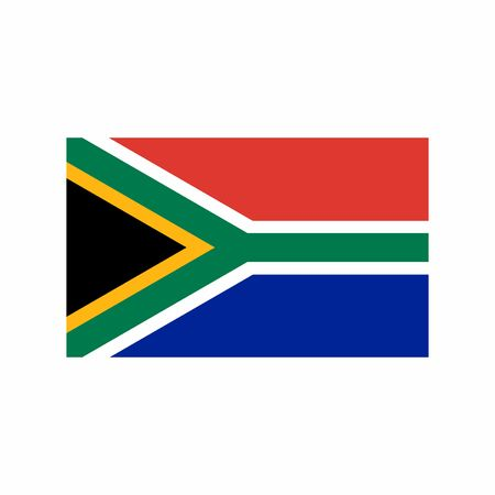Flag of South Africa vector design isolated on white background. Illusztráció