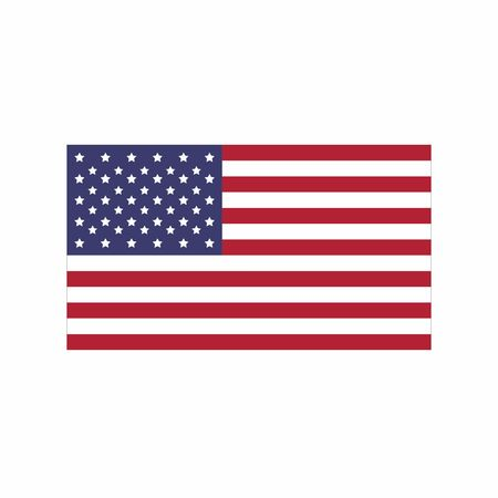 Flag of United State of America, vector design isolated on white background