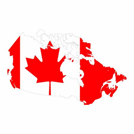 Map of Canada vector design isolated on white background