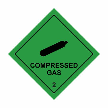 Compressed gas sign vector design isolated on white background Illusztráció