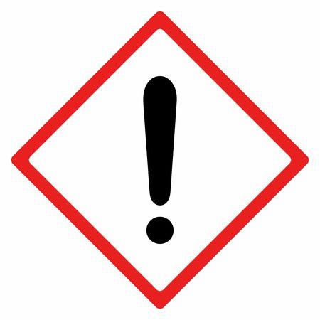 警告サイン ベクトル白い背景の分離設計  イラスト・ベクター素材