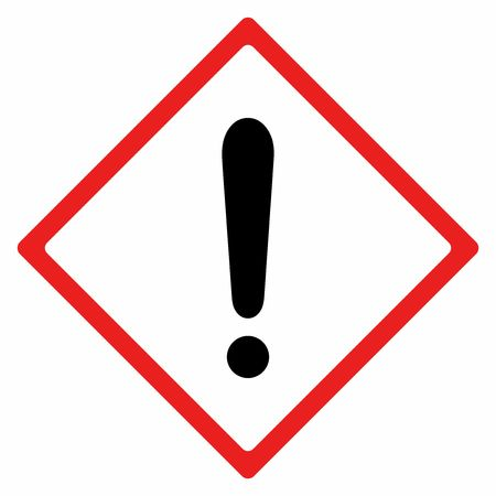 Warning sign vector design isolated on white background