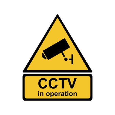 Security camera sign, vector design isolated on white background Illusztráció