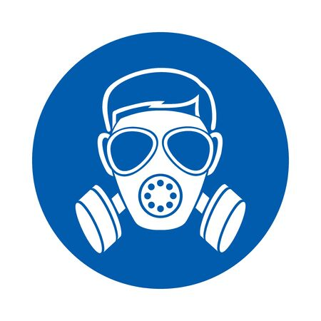 Respiratory protection must be worn. M017. Standard ISO 7010 Vetores