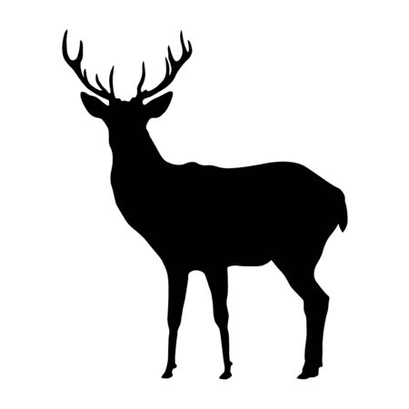 Hirschform, Vektordesign isoliert auf weißem Hintergrund. Vektorgrafik