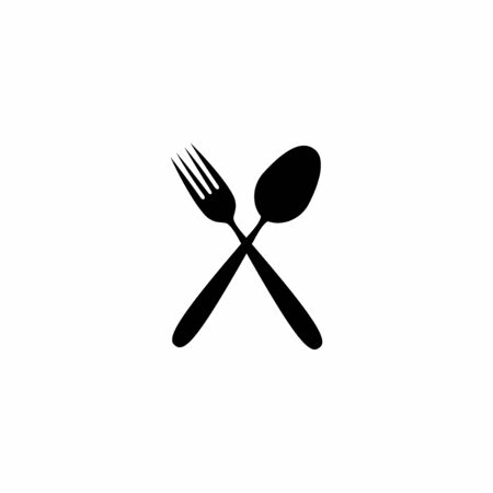 Cutlery icon. Vector design isolated on white background