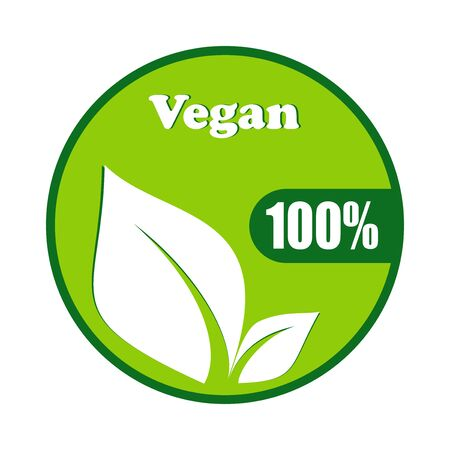 Vegan symbol vector design isolated on white background .