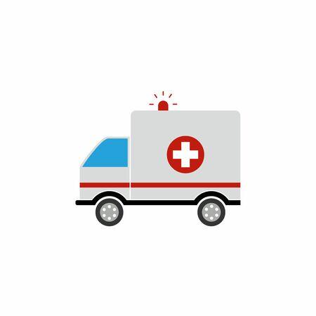 Ambulance icon. Vector design isolated on white background. Illustration