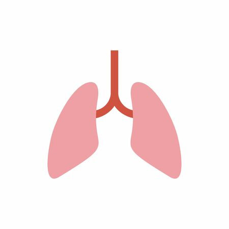Lungs icon.Respiratory system anatomy. Vector design isolated on white background.