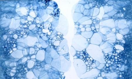Bubble grunge blue