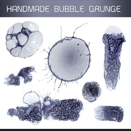 Handmade Bubble Grunge Composition Kit For Abstract Visual Solutions