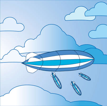 Illustration of airships.