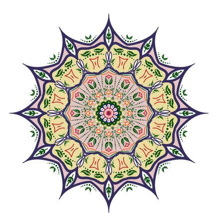Tribal mandala design set. Vintage decorative elements. Ornamental business cards. Ornamental doodle background. Illustration