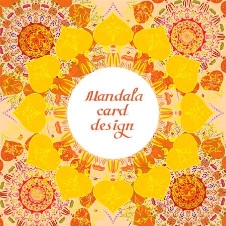 Business mandala design cards. Vintage decorative elements. Ornamental doodle background.