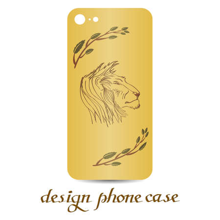 Design phone case. Phone cases are floral decorated. Vintage decorative elements. Ornamental background.