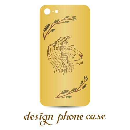 Design phone case. Phone cases are floral decorated. Vintage decorative elements. Ornamental background.