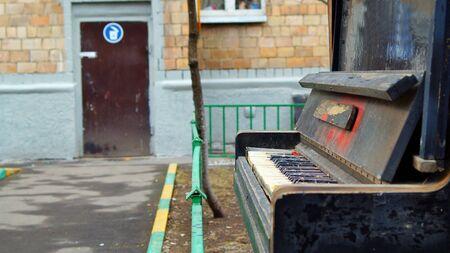 pianoforte: Old pianoforte left outdoors
