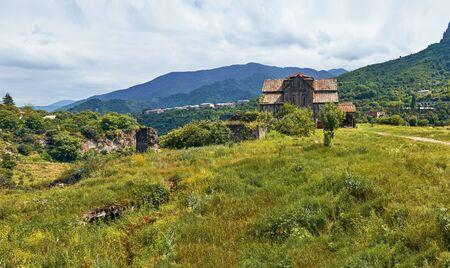Panorama of the ancient armenian monasteray Akhtala