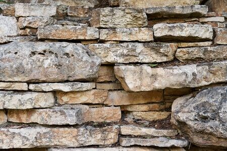 Background of a stone wall.Texture of old stones