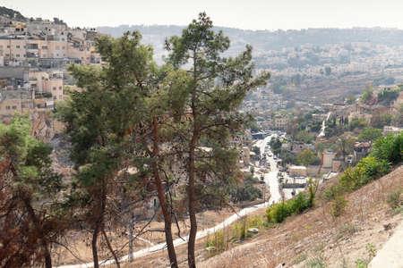 View of the Arabian village on the hillside of Mount of Olives in Jerusalem, Israel. Фото со стока