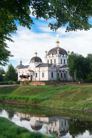 Beautiful Cathedral of the Annunciation of the Most Holy Theotokos in Gagarin town in Russia Zdjęcie Seryjne