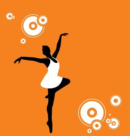 Vector Illustration of a ballet dancer.